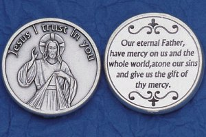 Divine Mercy Pocket Coin M-226