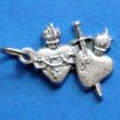 Pierced Hearts Charm B-45