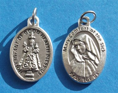 Infant of Good Health/Mary, Comfort of the Sick Medal M-120