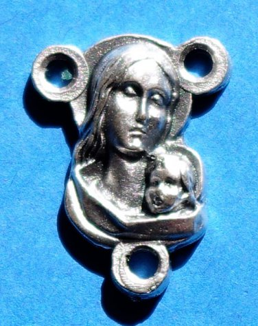 Madonna and Child Rosary Centerpiece R-7