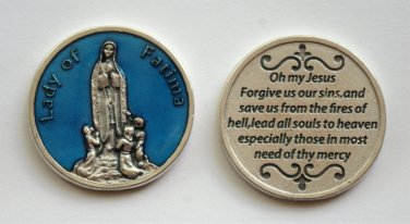 M-190 Blue Our Lady of Fatima Token