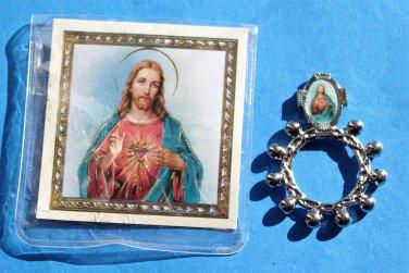 RR-16 Sacred Heart Rosary Ring