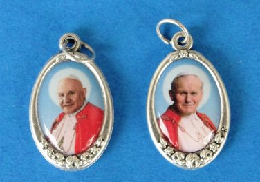 M-279 Saints Popes JPII/ JohnXXIII Color medal