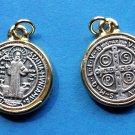 M-293 Large St. Benedict Round Gold Trim Medals