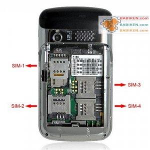 4 SIM Card Slots Cell Phone w/ four sim standby phone F160