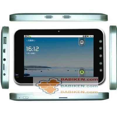 "7"" Android 2.2 Tablet PC Mobile Phone w 3G WCDMA SIM Slot, WIIFI"