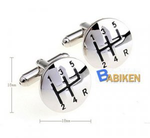 Car Gearshift Groom Bride Marriage Wedding Cufflinks