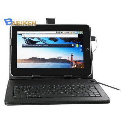 """10"""" Tablet PC Leather Case USB Keyboard Android MID Keypad"""