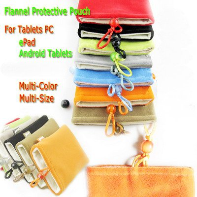 """7"""" aPad ePad Tablet Floannel Protective Pouch-- Free shipment"""