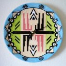 FUNCTIONAL ART - CERAMIC -  SOUTHWEST - WALL CLOCK