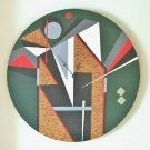 WALL CLOCK-ABSTRACT ORIENTAL DESIGNL