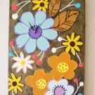 WALL CLOCK - FUNCTIONAL  ART - MODERN FLOWERS