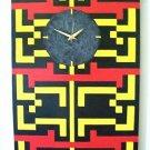 WALL CLOCK-ART DECO DESIGN-VIVID-ORIGINAL