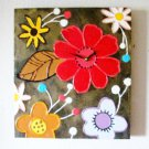 WALL CLOCK-MODERN FLOWERS-WALL DECOR