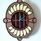 WALL CLOCK  SOUTHWESTERN DESIGN-UNIQUE