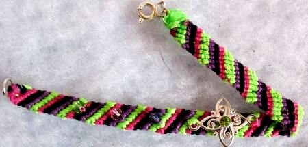 Black, Purple, Pink & Green Swarovski Chrystal Bracelet