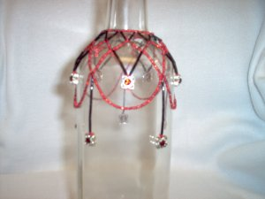 Red & Black Swarovski Chrystal Bottle Drape