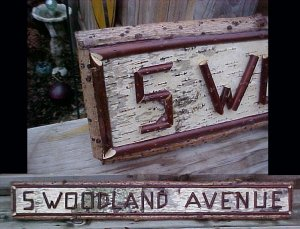 Birch Bark Red Twig Resort Camp Name Street Sign Custom Made
