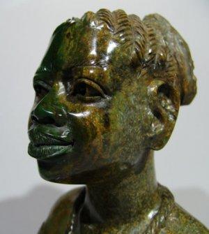 """""""Ambuya"""" Shona Verdite Art Sculpture ~S.Witty Zimbabwe!"""