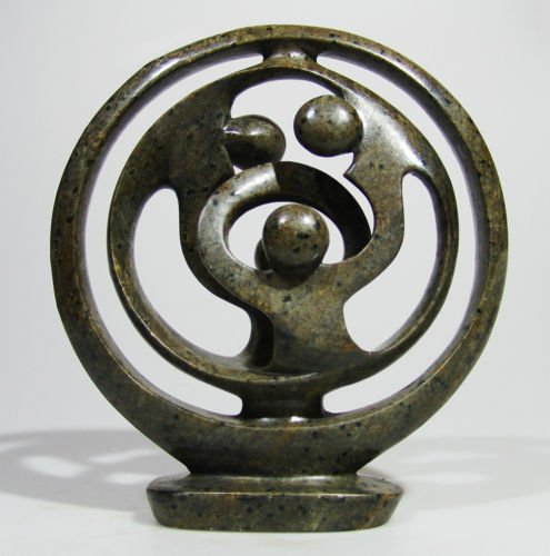 """Circle of life - Shona Art """"Family of Four"""" ~Zimbabwe!"""