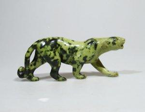 """African Leopard"" Leopard Rock Shona Stone Sculpture Handmade in Zimbabwe!"