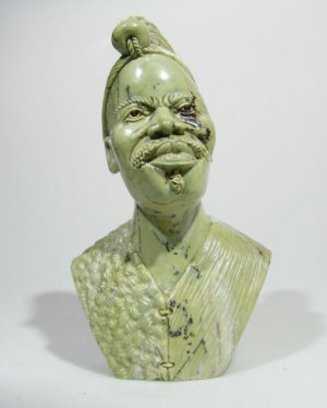 """The Shona Chief"" Hand Carved Butter Jade Art Stone Sculpture from Zimbabwe!"