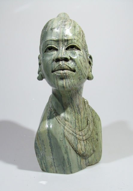 Quot shona lady butter jade stone sculpture hand carved
