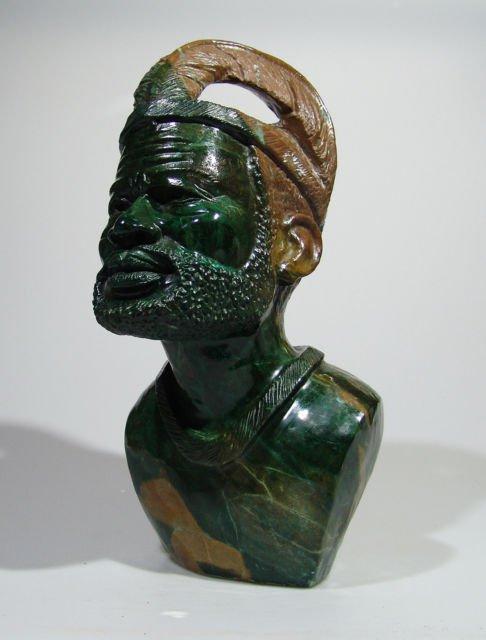 Quot shona chief verdite stone sculpture hand carved in