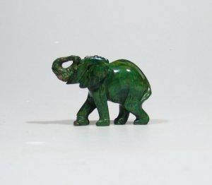 """The African Elephant"" Bright Green Verdite Sculpture/Art Handmade in Zimbabwe!"