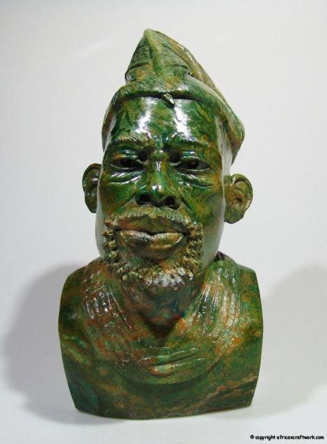 Quot shona chief verdite stone sculpture hand carved