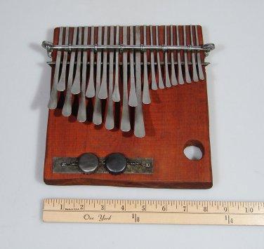 22 Key C.Vambe ELECTRIC TEAK Shona Mbira/Kalimba/Thumb Piano Handmade ~Zimbabwe!