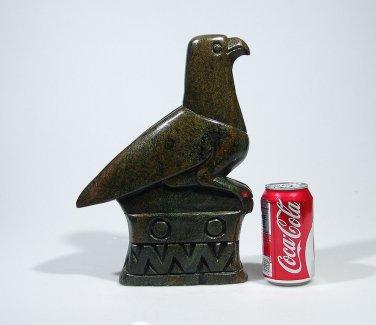 """Zimbabwe Bird"" Large Serpentine Shona Stone Sculpture Hand crafted in Zimbabwe!"