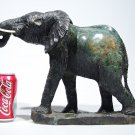 """African Bull Elephant"" Serpentine Sculpture Art Handmade in Zimbabwe!"