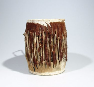 "Awesome ""Shona Leather Drum"" v2 Hand made in Zimbabwe! 9.5 x 7 inches"