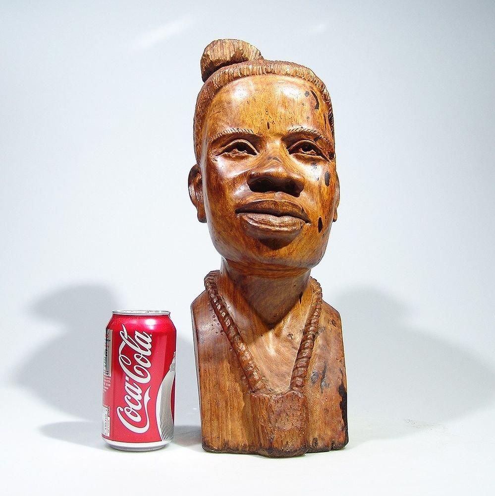 """Shona Lady"" Mukwa Hardwood Sculpture Hand Carved by Kenneth M. in Zimbabwe!"