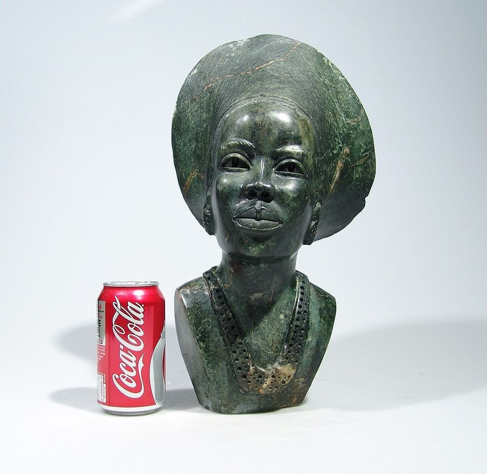 """Shona Daughter"" by Faxon. Serpentine Stone Sculpture Hand Carved in Zimbabwe!"