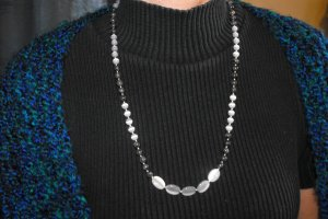N29 Labradorite and Grey Cats Eye Necklace  50% OFF