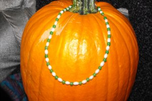 N24 Emerald and White Pearl Necklace  50% OFF