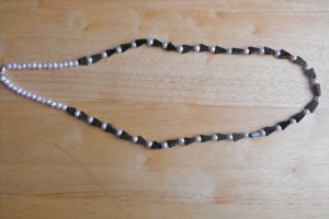 N20 Mahogany Obsidian and Pearl Necklace  50% OFF