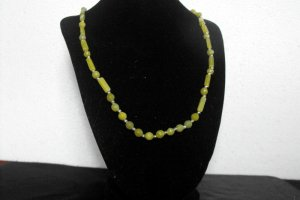 N74 Prehnite and Peridot Necklace  50% OFF
