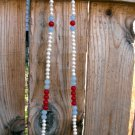 N78 Ruby Aquamarine and Pearl Necklace 50% OFF
