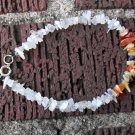 B29 Moonstone and Mexican Fire Opal Bracelet