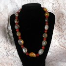 N98 Prehnite and Carnelian Necklace  50% OFF