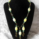 S117 Ripe Golden Pineapple Necklace set
