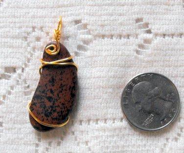 P4 Mahogany Obsidian Pendant