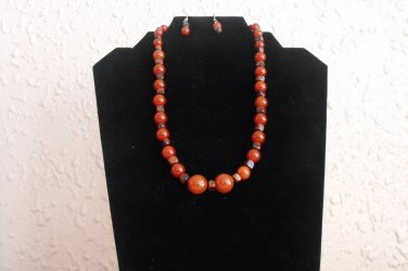 S88 Red Tiger Necklace Set  50% OFF
