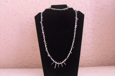 S112 Kyanite and Pearls Necklace Set