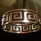 SILVER VERSACE GREEK BANGLE CUFF BRACELET