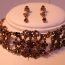 MULTI COLORED RED PURPLE AND GREEN Crystal choker