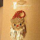 RHINESTONE CRYSTAL CHRISTMAS SANTA CLAUS BROOCH PIN *